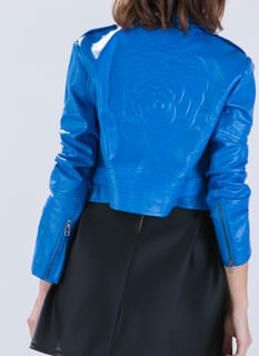 Rosy Chic Faux Leather Moto Jacket