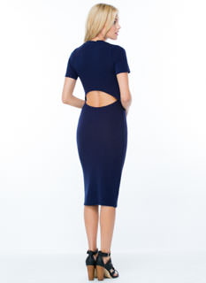 Back In The Game Cut-Out Midi Dress