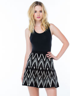 Give It A Twirl Knit Skater Skirt