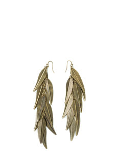 Queen Of The Jungle Leaf Earrings
