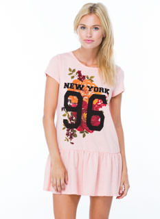 New York 96 Floral Drop Waist Dress