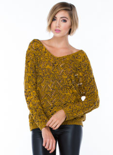 Mixed 'N Marled V-Neck Sweater