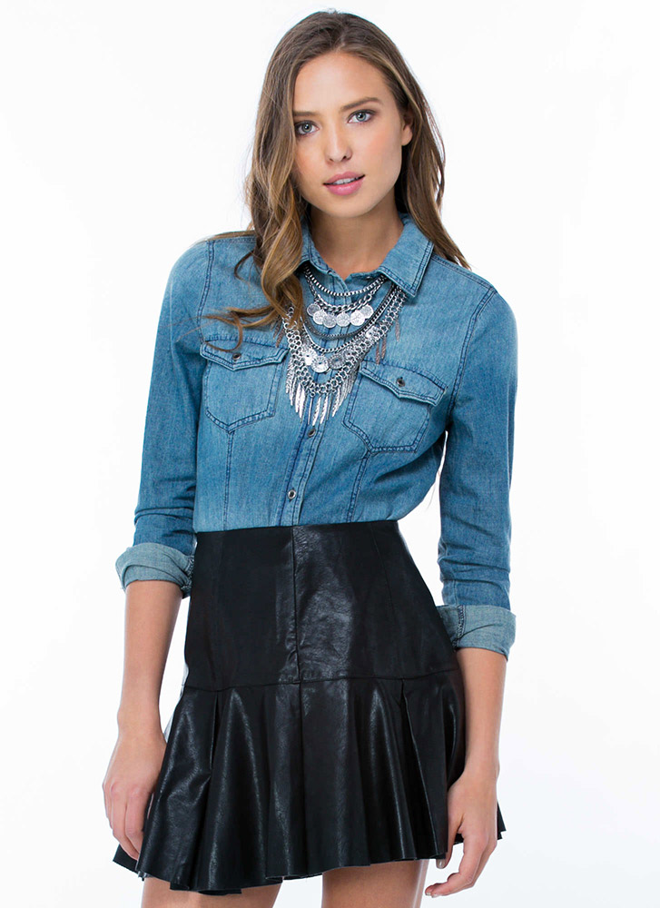Perfect Denim Button-Up Shirt