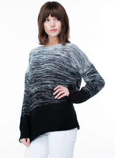 Marled Ombre Knit Sweater