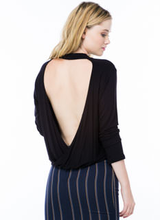 The Out Back Draped Mockneck Top