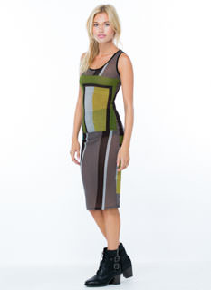 The Modernist Colorblock Knit Dress