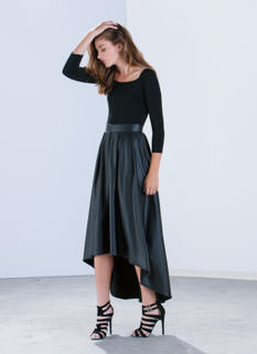 Yes Pleats Off-Shoulder Maxi Dress