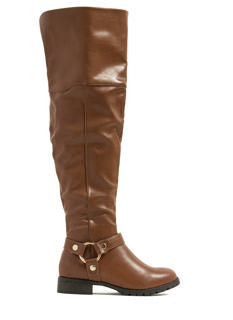 Rivet Harness Over-The-Knee Boots