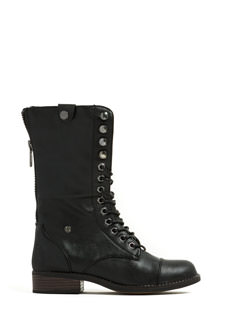 New BFF Faux Leather Lace-Up Boots