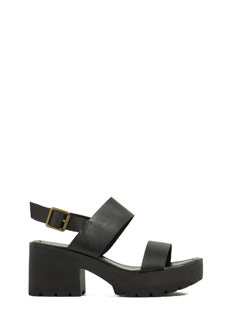 Double Trouble Chunky Platform Heels