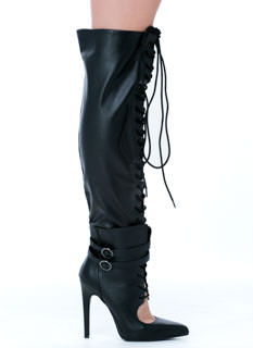 Totally Laced Over-The-Knee Boots