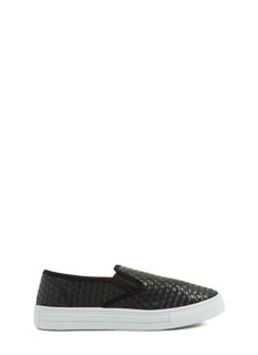 Basket Case Woven Slip-On Sneakers