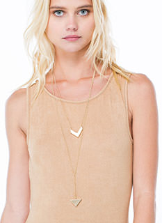 This Way Arrow 'N Triangle Necklace