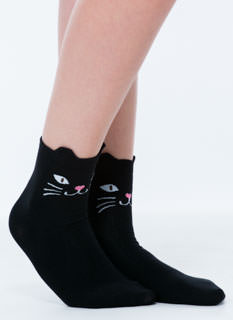 Cute As A Kitty Crew Socks