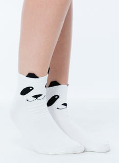 Cute As A Panda Crew Socks