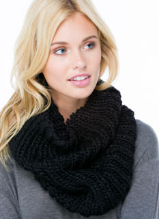 Make The Braid Knit Infinity Scarf