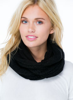Tie The Ribbon Knit Infinity Scarf