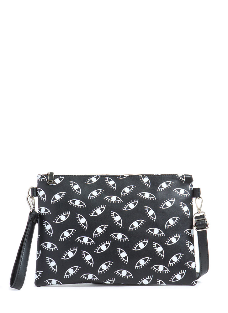 Jeepers Peepers Eye Print Clutch