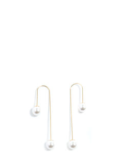 2 To Cascade Faux Pearl Earrings