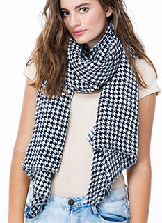 Houndstooth Fairy Knit Scarf
