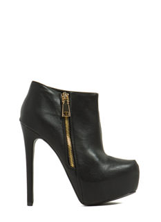 Work It Zippered Platform Booties