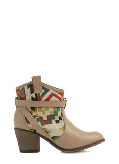 Tap Into Tapestry Strappy Boots