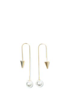 I'm Hooked Faux Pearl Cone Earrings