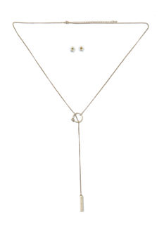Ring In The New Lariat Necklace Set