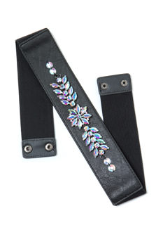 Ice Queen Jeweled Stretchy Belt
