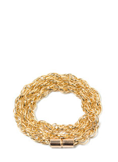 So Twisted Wraparound Chain Bracelet
