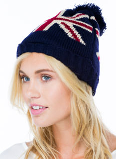 Join The Union Jack Pom-Pom Beanie
