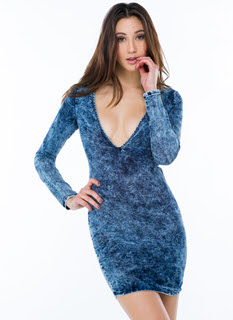 V Is For Voluptuous Acid Wash Dress