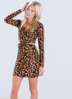 X Marks The Leopard Cut-Out Dress