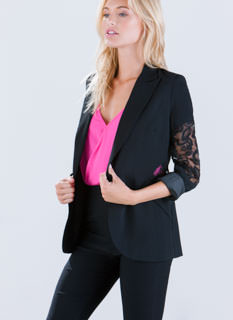 Flower Delivery Lace Inset Blazer