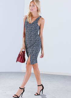 Weave It To Us Midi Dress