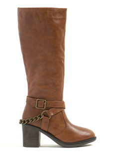 Moto Club Chain Strap Chunky Boots