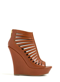 Just Venting Strappy Platform Wedges