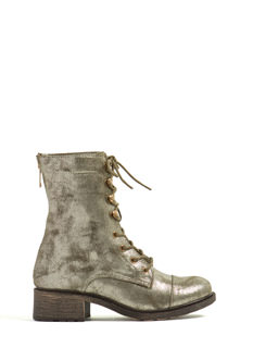 Perfectly Perforated Combat Boots