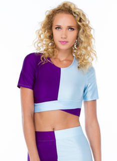 Around The Colorblock Crop Top