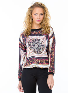 Ornate Baroque Printed Top