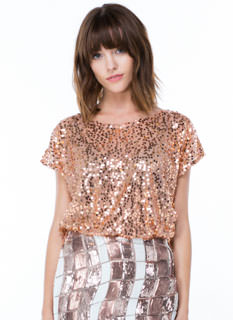 Seeking Sequins Netted Mesh Top