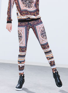 Ornate Baroque Printed Leggings