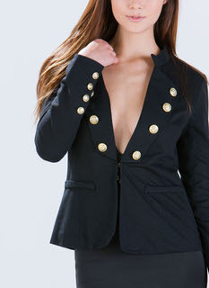 Major Crush Buttoned Military Blazer