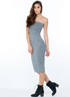 Knitty Gritty Ribbed Tube Dress