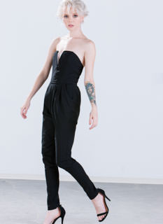 High Contrast Strapless Jumpsuit