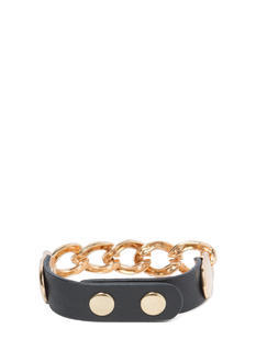 Rock It Faux Leather Bracelet