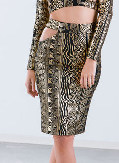 Natural Tribe Vibes Metallic Skirt