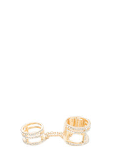 Sparkle Duo Chained Rings