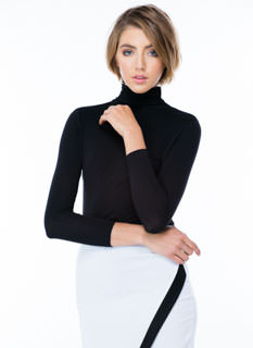 Win The Race Ruched Turtleneck Top