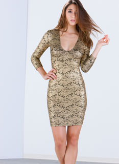 Floral Dream Metallic Dress